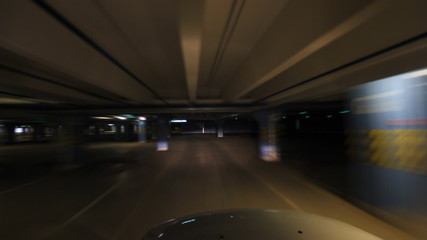 Underground parking time lapse