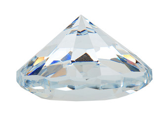 diamond with blue reflections
