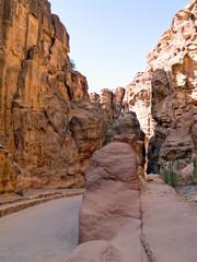 Nabatean aqueduct in Petra, Jordan