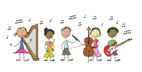 enfants instruments de musique