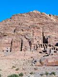 Palace and Corinthian tomb, Petra Jordan poster