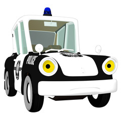 Police Car Frowning