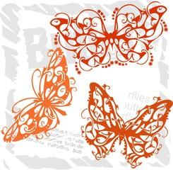 Butterflies in Modern Style - Set 6.