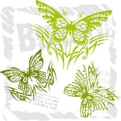 Butterflies in Modern Style - Set 8.