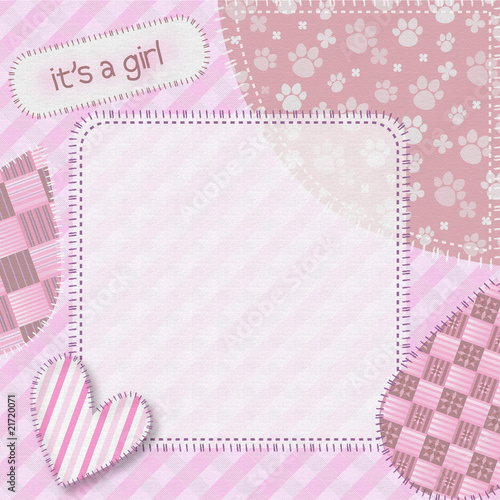 Illustration: Newborn baby girl background