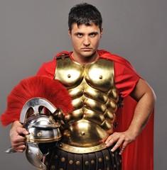 Portrait of a roman legionary soldier