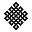 Eckig & Diagonal - Tibetischer Endlosknoten - S/W