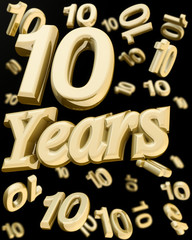 Golden 10 years anniversary