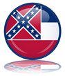 Mississippi Flag Web Button (USA States America Vector)