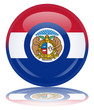 State of Missouri Flag Web Button (USA America Misouri Vector)