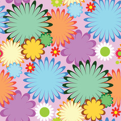 tropical flowers seamless. pink