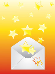 Envelope and the stars.