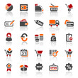 3 color icons - finance business - set 4