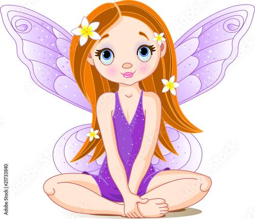 Foto op Aluminium Kasteel Little cute fairy