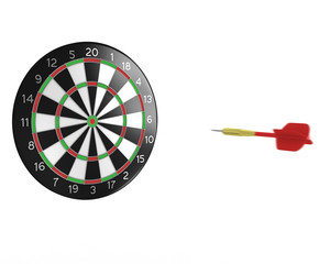 3D darts flight