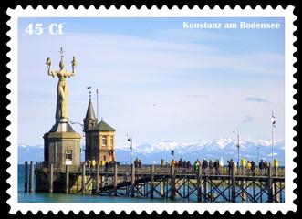Konstanz, Bodensee, Briefmarke