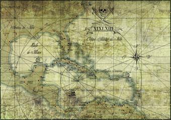 Karibik - alte Karte/Old Map