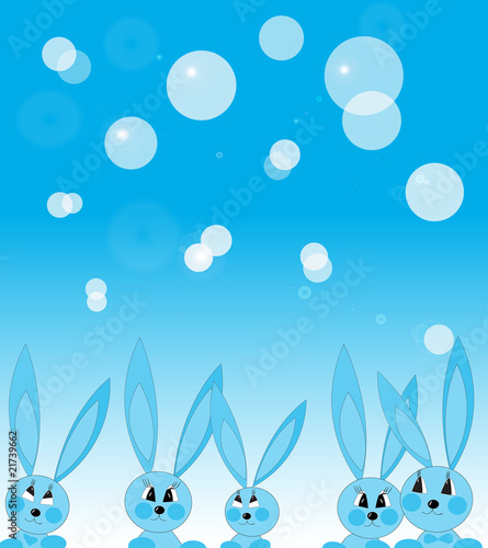 Cheerful rabbits