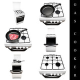gas cooker set poster