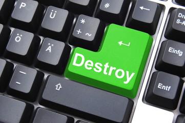 destroy button