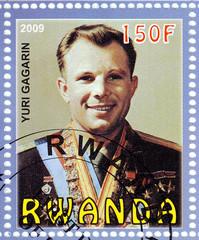 Russian astronaut Gagarin Yuri