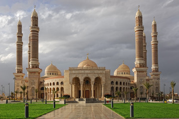 The AL-Saleh mosque in Sanaa, Yemen