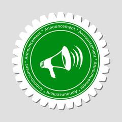 Megaphone Sign Label