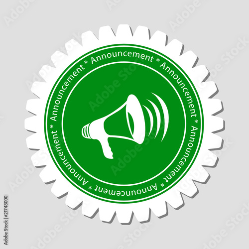 Megaphone Sign Label