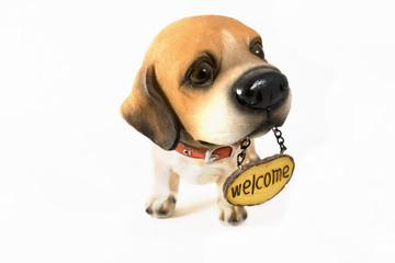 ceramic welcome dog