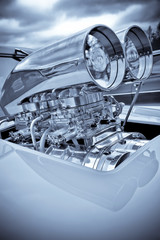 chromed performance car supercharger