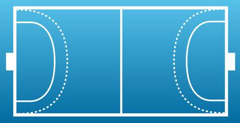Terrain de hand ball