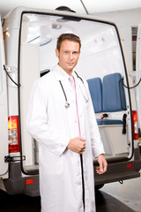 Confident paramedic