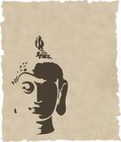 Fototapety the vector gold buddha