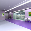 Modern clinic in purple