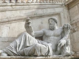 Statue of Tiber. Campidoglio. Rome. Italy