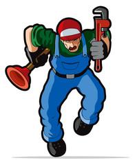Plumber vector illustration.