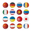button flags of the world vector