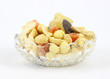 Fruits Nuts Glass Bowl