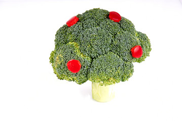 broccoli tree on white background