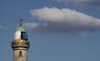 Lighttower of Warnemünde (Germany) with copy space