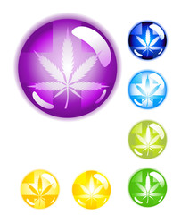 Medical Marijuana Buttons