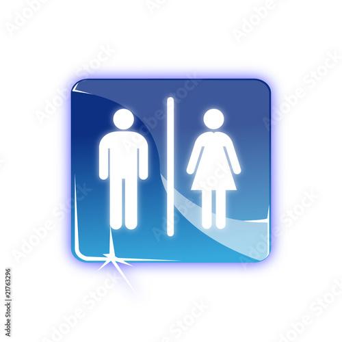 Picto toilette homme femme - Icon WC
