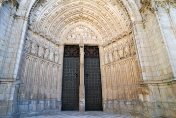 The door at the Cathedral of Toledo, Spain