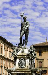 Bologna Emilia Romagna Italy Piazza Maggiore Statua del Nettuno