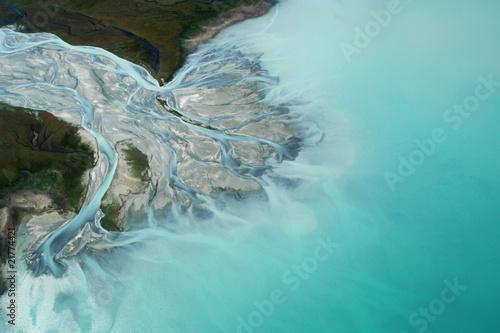 Canvas Nieuw Zeeland Flussdelta Lake Tekapo