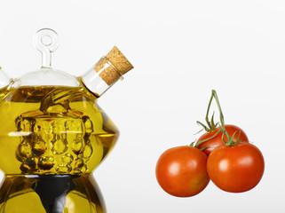 aceite de oliva y tomates cherry
