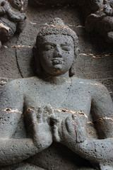 Buddha at Ellora cave temple complex ,India