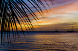 sunset over the Caribbean Sea, Grand Anse Bay, Grenada poster