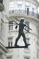 Sculpture on the street Vienna, Austria