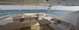 Sundeck of a large private motor yacht poster